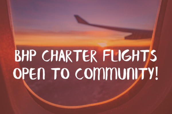 Charter Flights for the Community!
