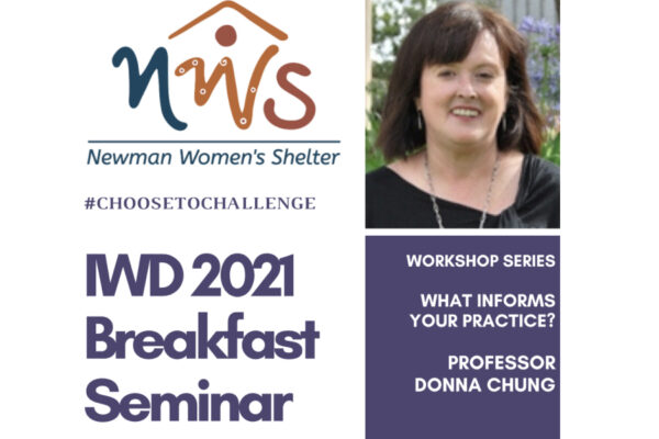 Newman Womens Shelter's IWD 2021 Breakfast Seminar & Workshop Series