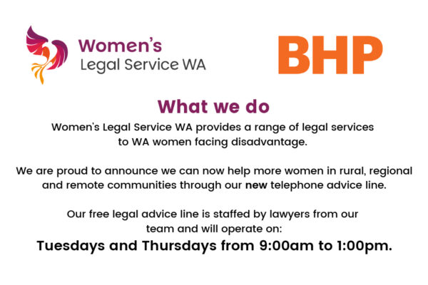 Free Legal Advice from Women's Legal Service WA